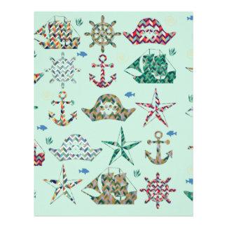 Nautical Stripes Icon Letterhead