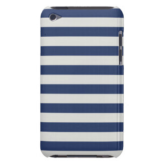 Nautical Stripes Navy White Barely There iPod Case
