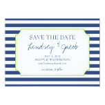 Nautical Stripes Save the Date Announcement