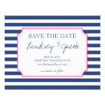 Nautical Stripes Save the Date Announcements