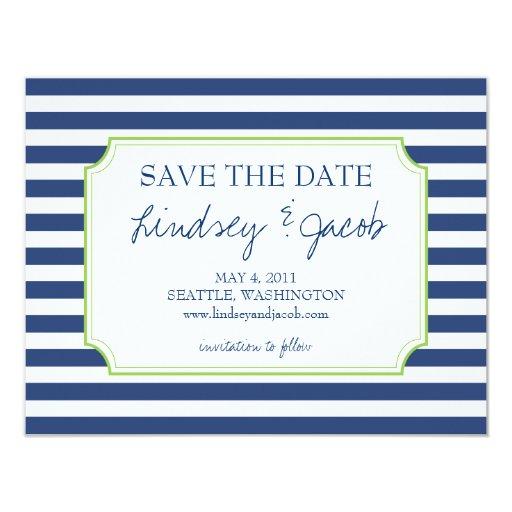 Nautical Stripes Save the Date Custom Invite