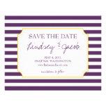 Nautical Stripes Save the Date Custom Invites
