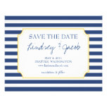Nautical Stripes Save the Date Personalized Invitation