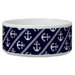 Nautical stripes with anchors bowl