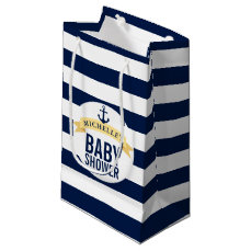 Nautical Style Baby Shower Customized Small Gift Bag