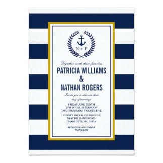 Nautical Style Bold Stripes Wedding Card