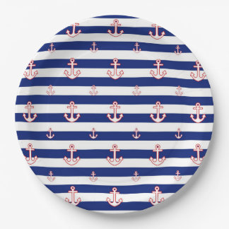 Nautical Style Decor Paper Plate