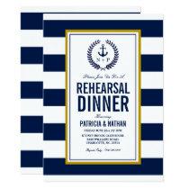 Nautical Style Rehearsal Dinner Invitation