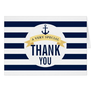 Beach Themed Nautical Style Theme Celebration Thank You Card