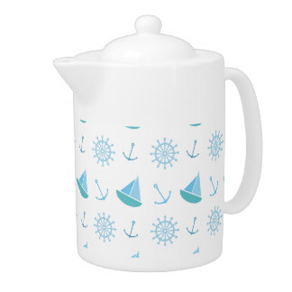 Nautical Summer Fun Pattern Teapot