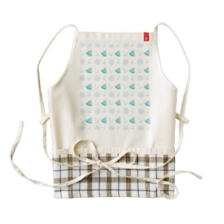Nautical Summer Fun Pattern Zazzle HEART Apron