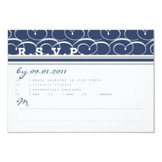 Nautical Swirls Response Card Personalized Invitations