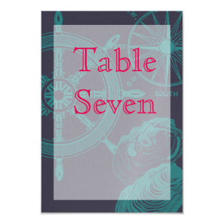 Nautical Tabel Number Sign Card