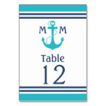 Nautical Table Number Table Card