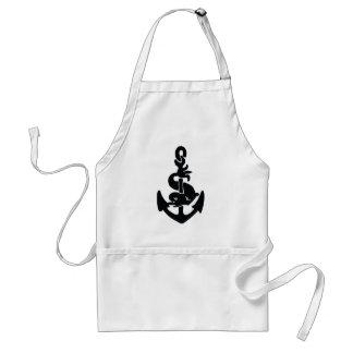 Nautical tattoo adult apron