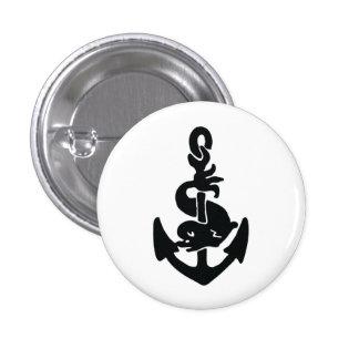 Nautical tattoo pinback buttons