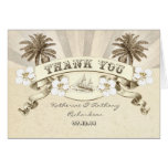 nautical thank you destination wedding cards
