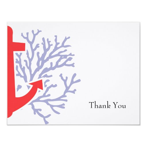 Nautical Thank You Flat Note Card Invites