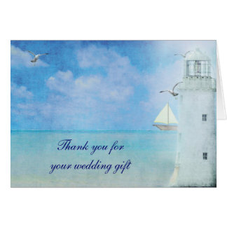 Nautical Thank You for wedding gift Stationery Note Card