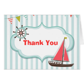 Nautical Thank You Notecard Stationery Note Card