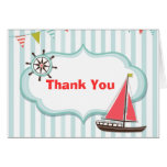 Nautical Thank You Notecard Greeting Cards