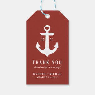 Nautical Thank You Wedding Favor Tags | WEDDINGS