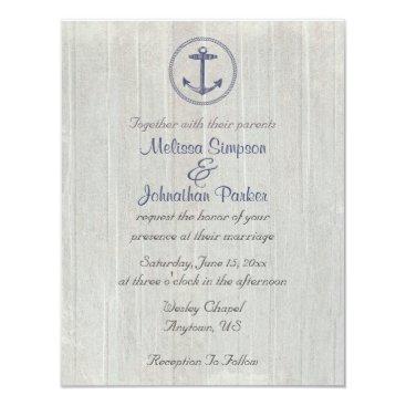 Beach Themed Nautical Theme | Anchor Card