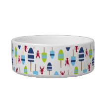 Nautical Theme Buoy and lobster monogrammed Bowl