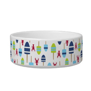 Beach Themed Nautical Theme Buoy and lobster monogrammed Bowl
