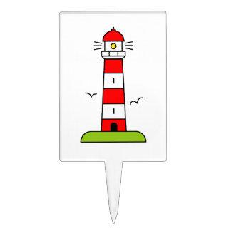 Nautical theme cake toppers | Lighthouse picks