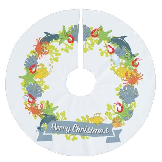 Nautical Christmas Theme.Nautical Theme Christmas Wreath Tree Skirt