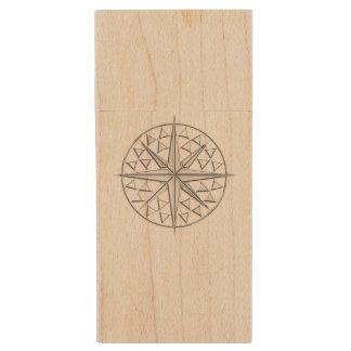 Nautical Theme Design Wood USB 2.0 Flash Drive