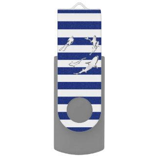 Nautical Theme Design Swivel USB 2.0 Flash Drive