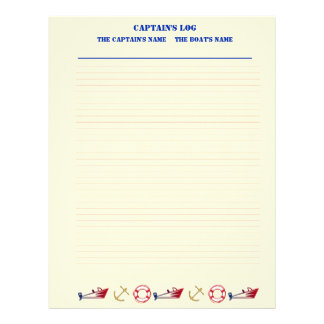 Nautical Theme Filler Paper (Lined)
