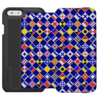 Nautical Theme Flags Design iPhone 6/6s Wallet Case