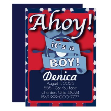 Beach Themed Nautical theme It's a Boy Invitation Baby Shower!