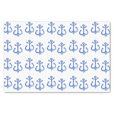 Beach Themed Nautical Theme | Navy Blue Anchors Tissue Paper