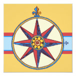 Nautical Theme Party - Yacht, Sailing Club, Marina 5.25x5.25 Square Paper Invitation Card