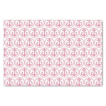 Beach Themed Nautical Theme | Pink Anchors Tissue Paper