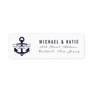 Nautical Theme Return Address Labels | WEDDINGS