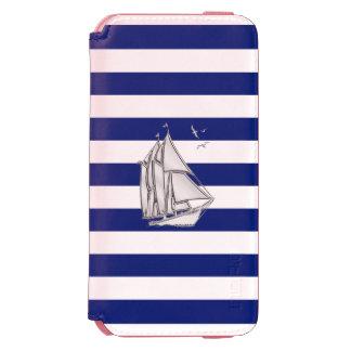 Nautical Theme Sail Boat Design iPhone 6/6s Wallet Case