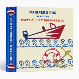 Nautical Theme Scrapbook - Personalized 3 Ring Binders