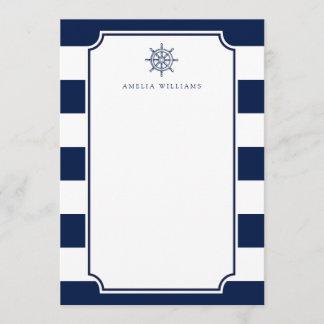 Nautical Theme Ship wheel Office Stationary Note Card