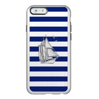 Nautical Theme Stripes Design Incipio Feather® Shine iPhone 6 Case