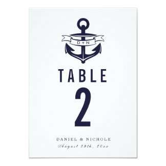 Nautical Theme Table Numbers | Weddings Card
