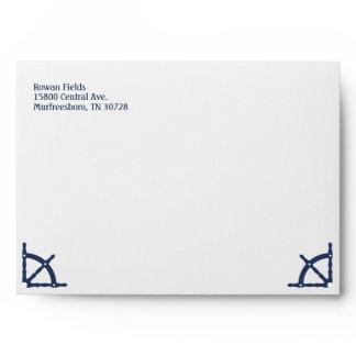 Nautical Themed 5x7 Envelope