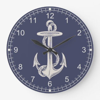 Nautical Themed Anchor Wall Clock