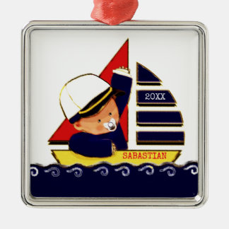 nautical-themed baby shower ideas metal ornament