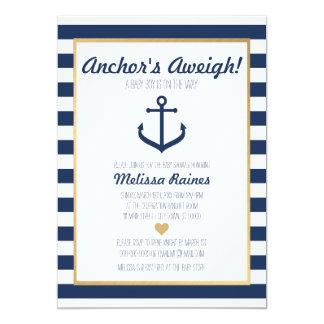 Nautical Themed Baby Shower Invitation   Anchor