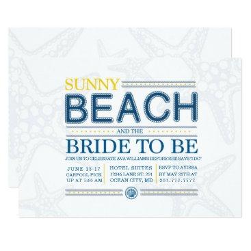 Beach Themed Nautical Themed Bachelorette party Card